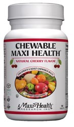 Maxi Health Kosher Chewable Maxi Health Multi Vitamin & Mineral Cherry Flavor 90 Tablets