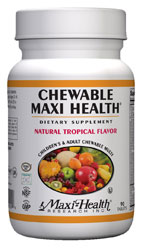 Maxi Health Kosher Chewable Maxi Health Multi Vitamin & Mineral Tropical Flavor 180 Tablets