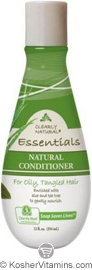 Clearly Natural Natural Conditioner for Oily, Tangled Hair Aloe & Tea Tree 12 OZ