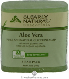 Clearly Natural Glycerine Bar Soap Aloe Vera 3 Pack 4 OZ
