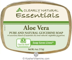 Clearly Natural Glycerine Bar Soap Aloe Vera 4 OZ
