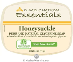 Clearly Natural Glycerine Bar Soap Honeysuckle 4 OZ