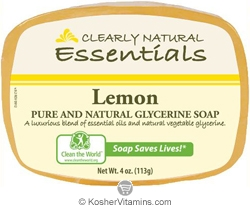 Clearly Natural Glycerine Bar Soap Lemon 4 OZ