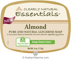 Clearly Natural Glycerine Bar Soap Almond 4 OZ