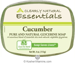 Clearly Natural Glycerine Bar Soap Cucumber 4 OZ