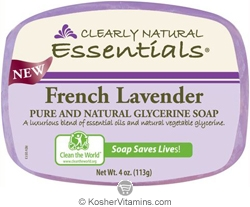 Clearly Natural Glycerine Bar Soap French Lavender 4 OZ
