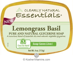 Clearly Natural Glycerine Bar Soap Lemongrass Basil 4 OZ