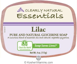 Clearly Natural Glycerine Bar Soap Lilac 4 OZ