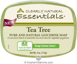 Clearly Natural Glycerine Bar Soap Tea Tree 4 OZ