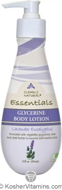 Clearly Natural Glycerine Body Lotion Lavender Eucalyptus 12 OZ