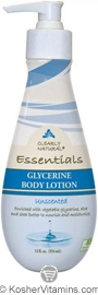 Clearly Natural Glycerine Body Lotion Unscented 12 OZ