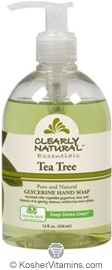Clearly Natural Glycerine Hand Soap Tea Tree 12 OZ