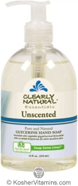 Clearly Natural Glycerine Hand Soap Unscented 12 OZ