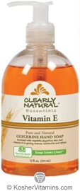 Clearly Natural Glycerine Hand Soap Vitamin E 12 OZ