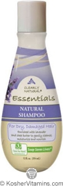 Clearly Natural Natural Shampoo for Dry, Damaged Hair Lavender & Shea Butter 12 OZ