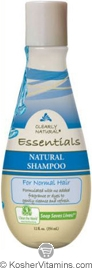 Clearly Natural Natural Shampoo for Normal Hair Unscented 12 OZ