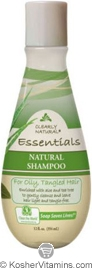 Clearly Natural Natural Shampoo for Oily, Tangled Hair Aloe & Tea Tree 12 OZ