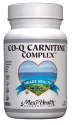 Maxi Health Kosher Co Q Carnitine Complex (Coenzyme Q10) 60 Vegicaps