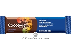 CocoaVia Kosher Daily Cocoa Extract Supplement Sweetened Dark Chocolate 375 Mg NEW & IMPROVED 1 Packet