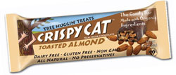 NuGo Nutrition Kosher Crispy Cat Candy Bar Toasted Almond Organic Dairy 12 Bars