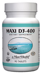 Maxi Health Kosher Maxi Vitamin D3-400 I.U. 90 Tablets