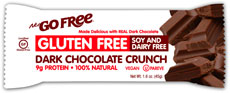 NuGo Nutrition Kosher Free Bar Dark Chocolate Crunch Gluten Free Parve 12 Bars