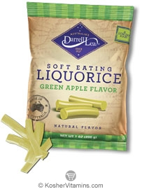 Darrell Lea Kosher Soft Eating Liquorice (Licorice) Green Apple 7 oz
