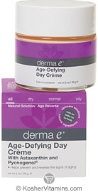 Derma E Age-Defying Day Creme with Astazanthin & Pycnogenol 2 OZ