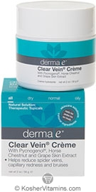Derma E Clear Vein Creme with Pycnogenol, Horse Chestnut & Grape Skin Extract 2 OZ