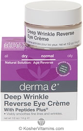 Derma E Deep Wrinkle Reverse Eye Creme with Peptides Plus 0.5 OZ