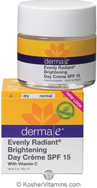 Derma E Evenly Radiant Brightening Day Creme SPF 15 with Vitamin C 2 OZ
