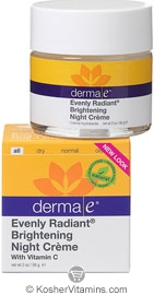 Derma E Evenly Radiant Brightening Night Creme with Vitamin C 2 OZ