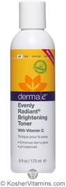 Derma E Evenly Radiant Brightening Toner with Vitamin C 6 OZ
