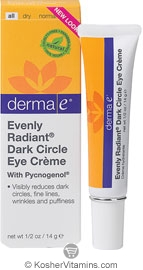 Derma E Evenly Radiant Dark Circle Eye Creme with Pycnogenol 0.5 OZ