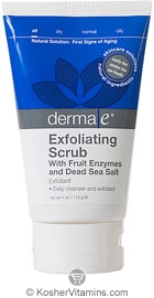 Derma E Exfoliating Scrub with Fruit Enzymes & Dead Sea Salts 4 OZ