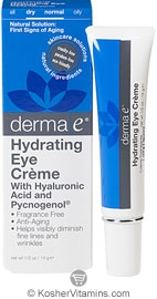 Derma E Hydrating Eye Creme with Hyaluronic Acid & Pycnogenol 0.5 OZ