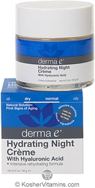 Derma E Hydrating Night Creme with Hyaluronic Acid 2 OZ