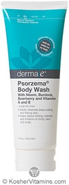 Derma E Psorzema Body Wash with Neem, Burdock, Bearberry & Vitamins A & E 8 OZ