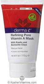 Derma E Refining Pore Vitamin A Mask with Kaolin and Bentonite Clays 4 OZ