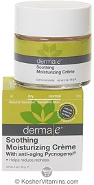 Derma E Soothing Moisturizing Creme with Anti-Aging Pycnogenol 2 OZ