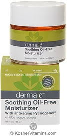 Derma E Soothing Oil-Free Moisturizer with Anti-Aging Pycnogenol 2 OZ