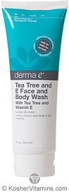 Derma E Tea Tree and E Face and Body Wash 8 OZ