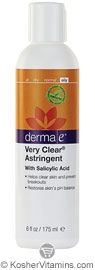 Derma E Very Clear Acne Astringent with Salicylic Acid 6 OZ