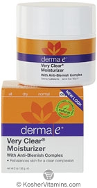 Derma E Very Clear Acne Moisturizer with Anti-Blemish Complex 2 OZ
