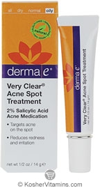 Derma E Very Clear Acne Spot Treatment with 2% Salicylic Acid 0.5 OZ