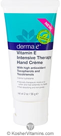 Derma E Vitamin E Intensive Therapy Hand Creme with high antioxidant Tocopherols & Tocotrienols 2 OZ