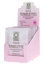 Desert Essence Cleansing Towelettes with Essential Oils 24 Packets