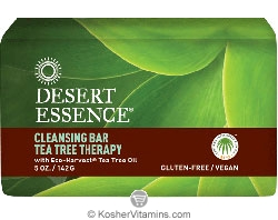 Desert Essence Cleansing Bar Tea Tree Therapy with Eco-Harvest Tea Tree Oil 5 OZ