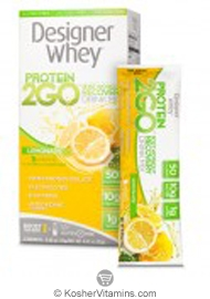 Designer Whey Kosher Protein 2GO Post Workout Recovery Lemonade Dairy 5 Packets