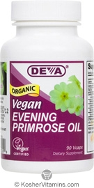 Deva Nutrition Organic Vegan Evening Primrose Oil Not Certified Kosher 90 Vegan Capsules